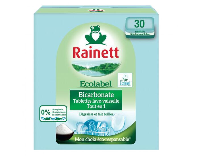 RAINETT Tablettes Lave-Vaisselle au Bicarbonate - 30 Tablettes