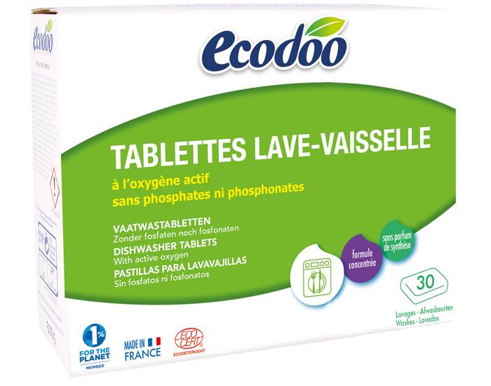 ECODOO Tablettes Lave-Vaisselle 30 Lavages - 600g