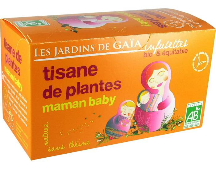LES JARDINS DE GAIA Tisane d'Allaitement Maman Baby - Infusettes