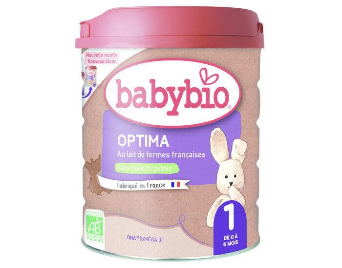 BABYBIO Lait pour nourrisson 1 Optima - De 0 à 6 mois - 900 g