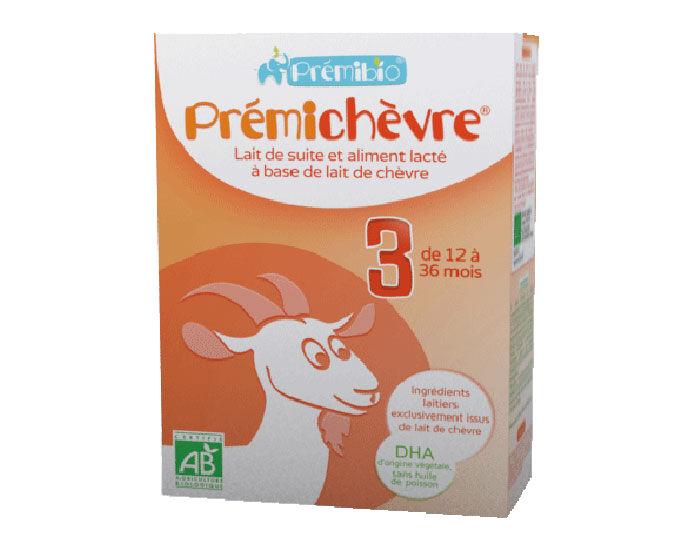PRéMIBIO PRÉMICHÈVRE Croissance à base de Lait de Chèvre - De 12 à 36 mois - 600 g