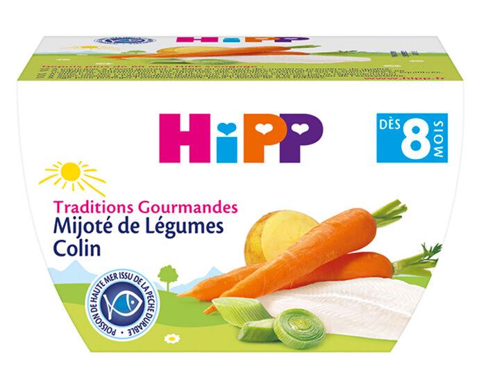 HIPP Bol Traditions Gourmandes - 190g Mijoté de Légumes Colin - 8M