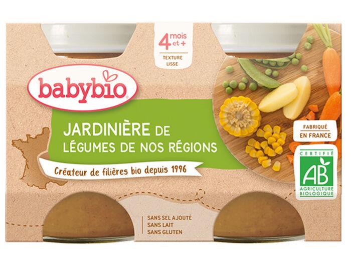 BABYBIO Mes Légumes - 2x130g Jardinière de Légumes - 4 mois