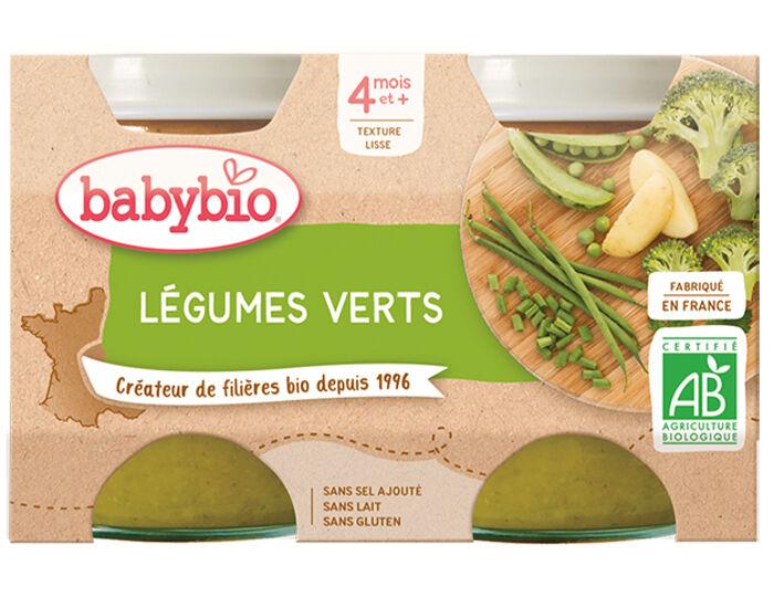 BABYBIO Mes Légumes - 2x130g Légumes verts - 4 mois