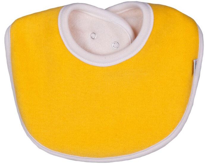 IOBIO Bavoir Coton Eponge - Jaune 0-3 mois