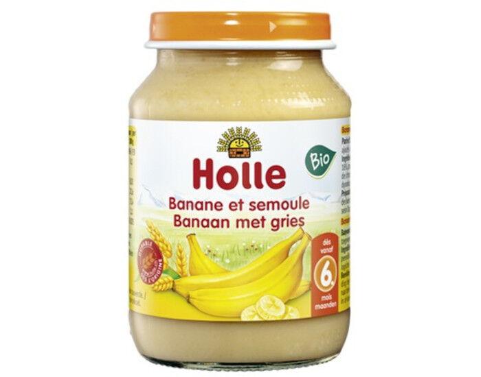HOLLE Petit Pot de Fruits - 190 g Bananes - Semoule - 6M