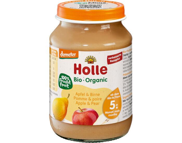 HOLLE Petit Pot de Fruits - 190 g Pommes - Poires - 4M