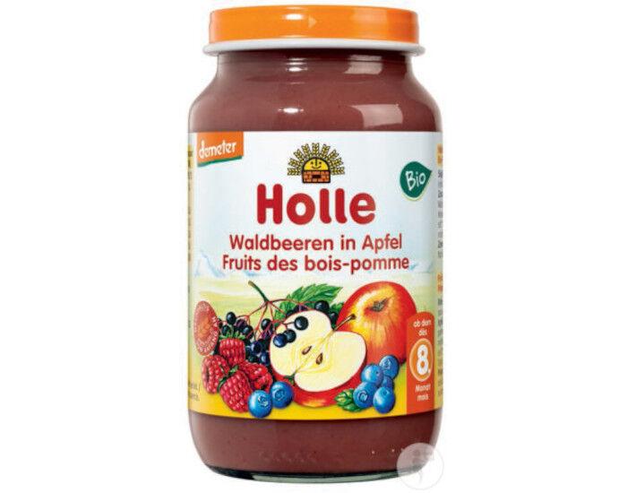 HOLLE Petit pot de Fruits - 220g Pomme-Fruits des Bois - 8M