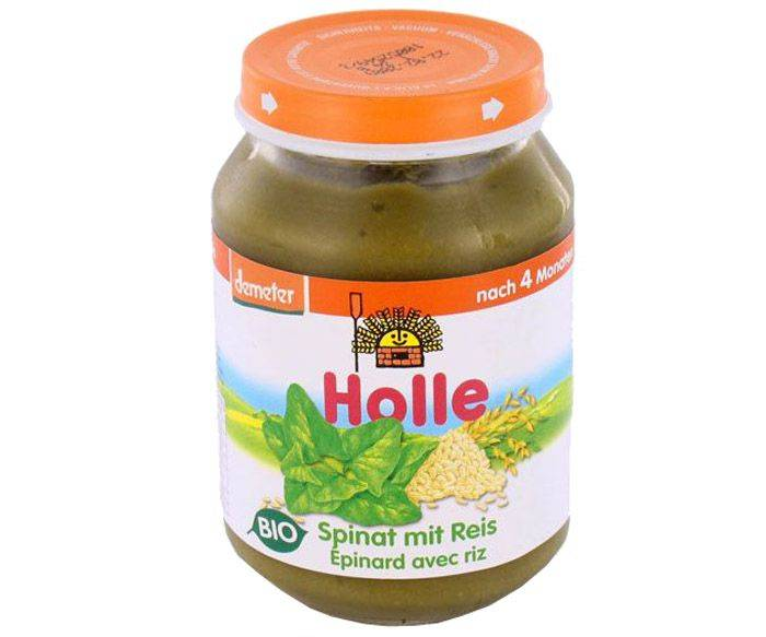 HOLLE Petit Pot Légume - 190 g Epinards - Pomme de Terre - 4M