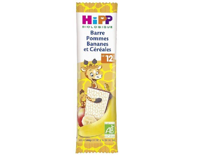 HIPP Barre Fruitée - 25g - Dès 12 Mois Pommes Bananes et Céréales