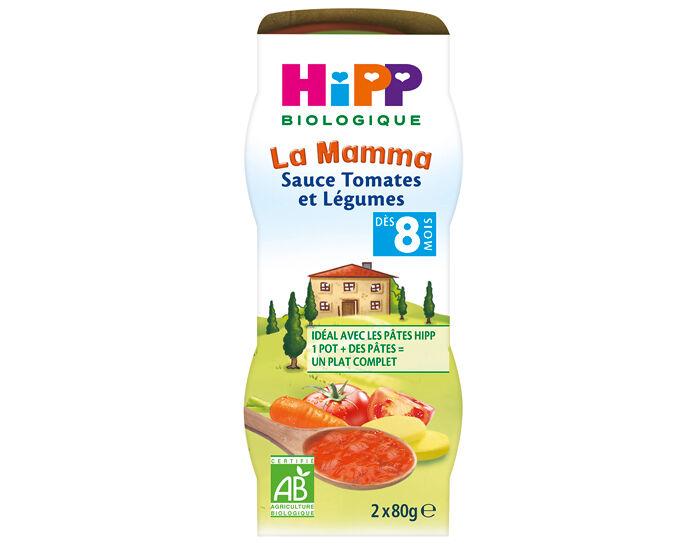 HIPP Sauce Tomates et Légumes pour Bébé - 2 x 80g - Dès 8 Mois