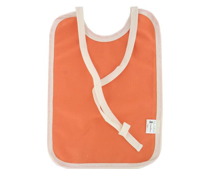 LULU NATURE Grand Bavoir Imperméable en Coton Bio Orange