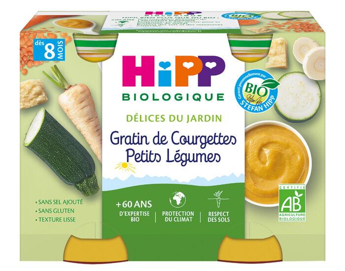 HIPP Mes premiers Légumes - 2 x 190 g Gratin de courgettes - Petits légumes - 8M
