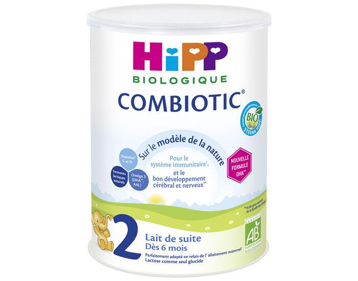 HIPP Pack x6 Lait de Suite 2 Combiotic - Dès 6 Mois - 800g