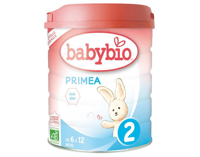 BABYBIO Pack x6 Lait de Suite 2 Primea - Dès 6 Mois - 800g