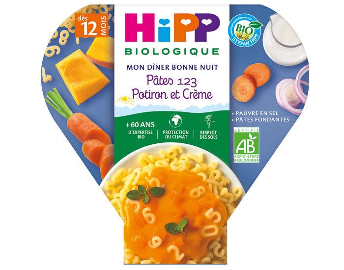 HIPP Les Pré-Maternelles Pâtes - 230g - Dès 12 mois 1-2-3  Potiron et Crème