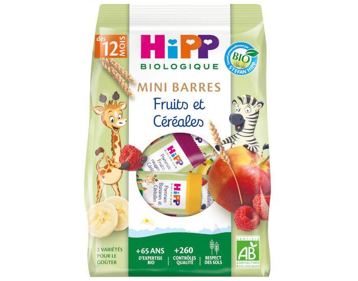HIPP Mini Barres Fruits et Céréales - Dès 12 mois - Sachet 100g