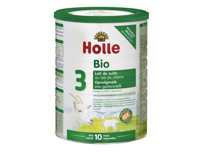 HOLLE Préparation en Poudre à Base de Lait de Chèvre - De 10 mois à 3 ans - 800 g