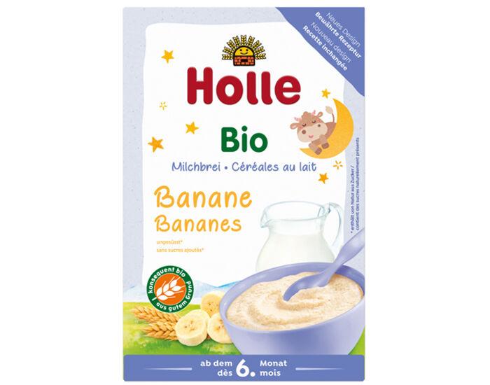 HOLLE Bouillie au Lait et aux Bananes - dès 6 mois