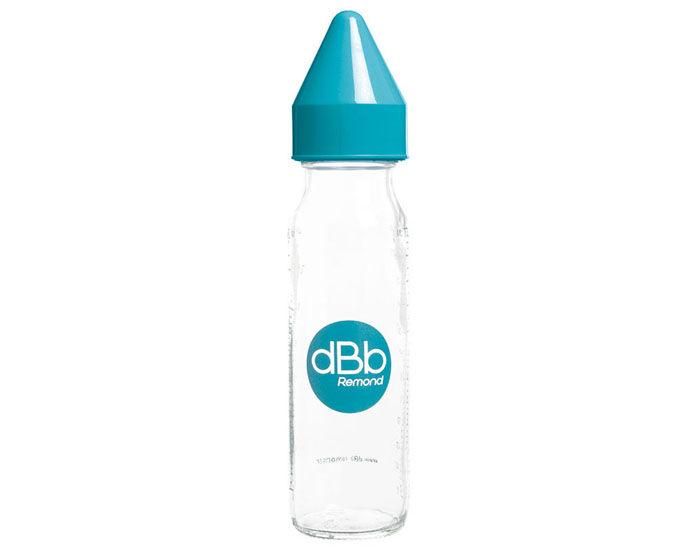 DBB REMOND Biberon en Verre 240 ml - Tétine Silicone Turquoise