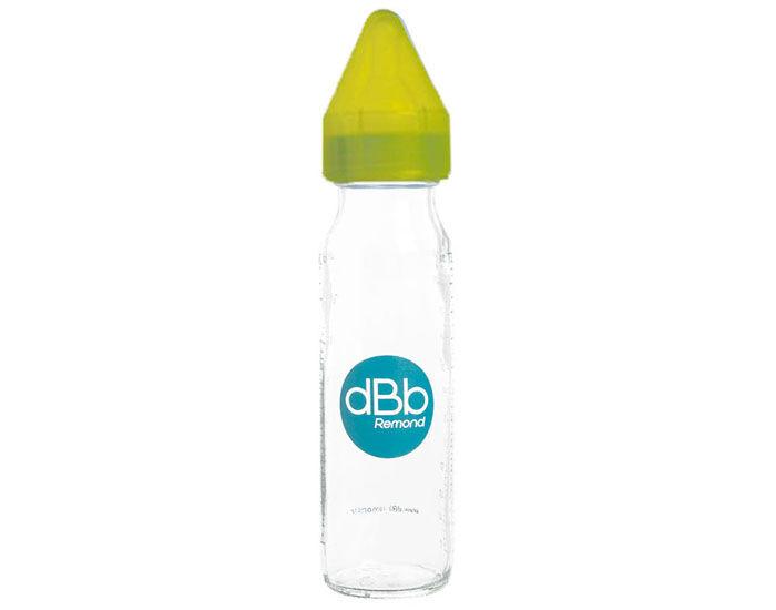DBB REMOND Biberon en Verre 240 ml - Tétine Silicone Vert