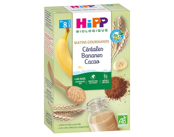 HIPP Céréales Matins Gourmands - Bananes Cacao - 250 g - Dès 8 Mois