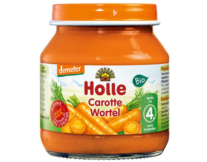 HOLLE Petit Pot Légume Carotte - Dès 4 Mois - 125 g