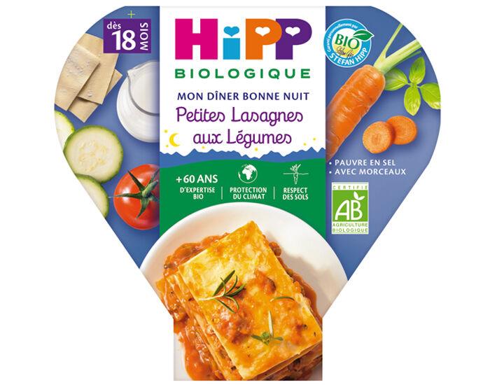 HIPP Assiette Mon Diner Bonne Nuit - 200, 230g ou 260g Petites Lasagnes aux légumes - 18M
