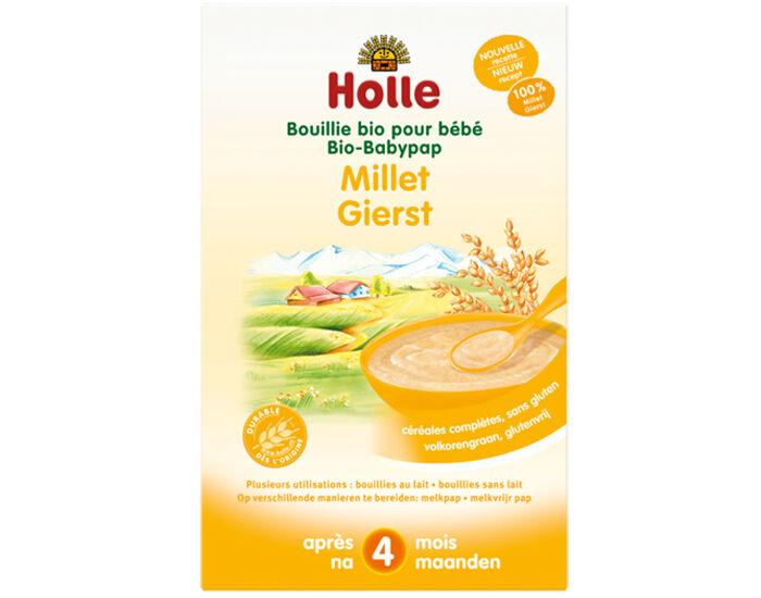 HOLLE Bouillie 100% Millet - Dès 4 mois