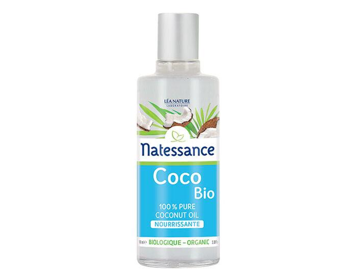 NATESSANCE Huile Végétale de Coco Bio 100% Pure et Nourrissante - 100 ml