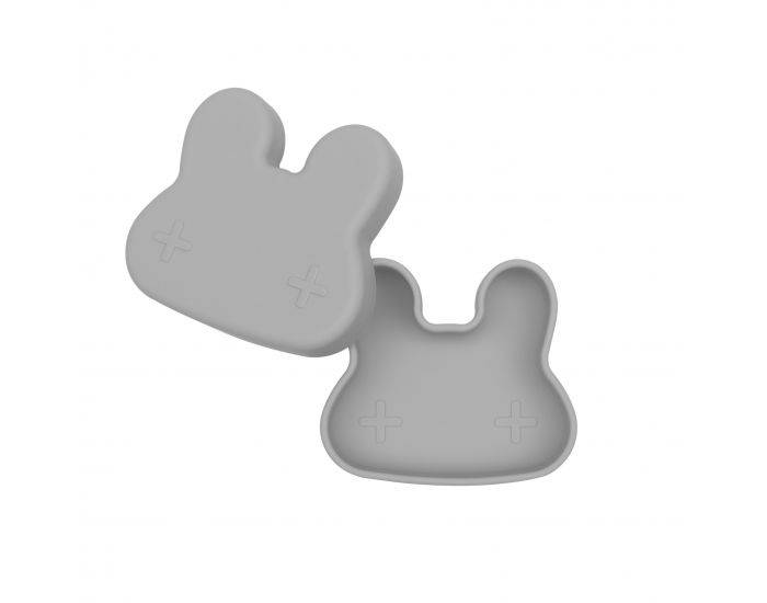 WE MIGHT BE TINY Boite à Goûter silicone - Lapin Gris