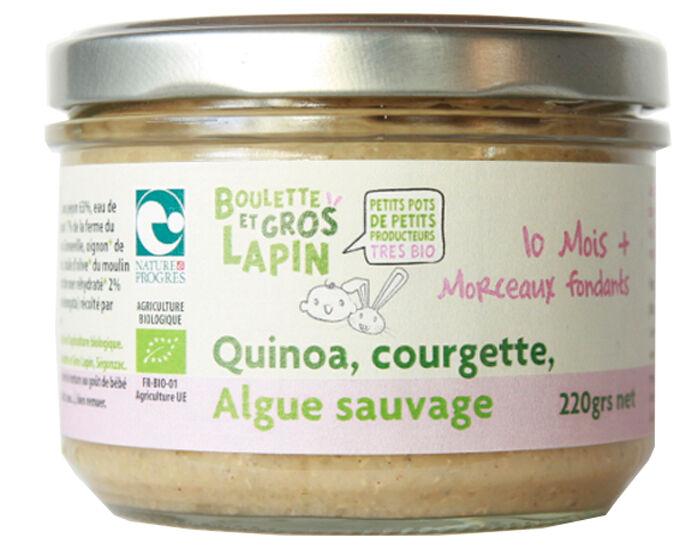 BOULETTE ET GROS LAPIN Petit Pot Courgette Quinoa Algue Sauvage - Dès 10 mois - 220 g
