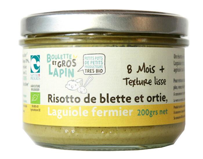 BOULETTE ET GROS LAPIN Petit Pot Risotto Blette Ortie au Laguiole Fermier - Dès 8 mois - 200 g