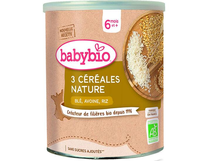 BABYBIO 3 Céréales Nature - Dès 8 mois