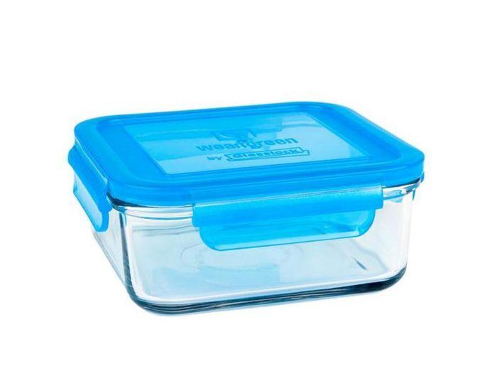 WEANGREEN 1 Pot de Conservation en verre trempé - 850ml  Bleu