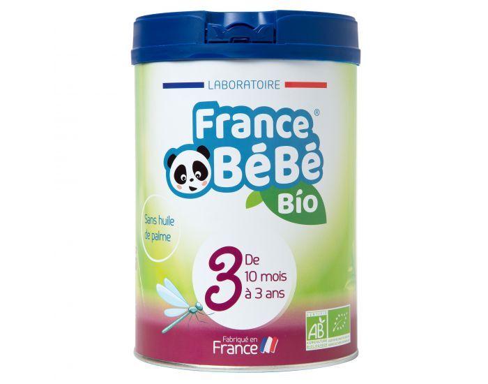 FRANCE BéBé BIO Pack 3 Boites Lait Croissance 3 - Dès 10 mois 3x800