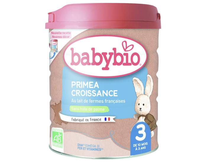BABYBIO Lait de Croissance Priméa 3 - 800g