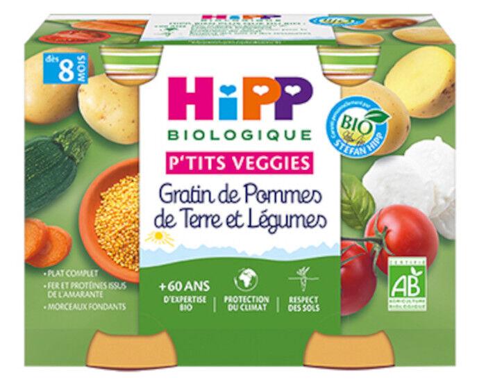 HIPP Ptits Veggies - 2 x 190 g Gratin de Pommes de terre et Légumes