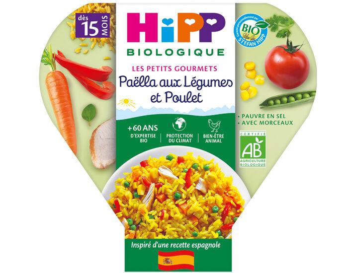 HIPP Assiette - Les Petits Gourmets - 250 g - Dès 15 mois Paëlla aux Légumes et Poulet
