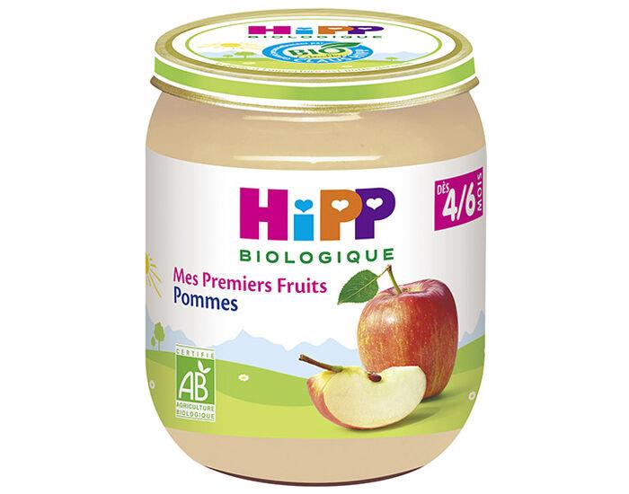 HIPP Mes Premiers Fruits - Pot 125 g - Dès 4/6 mois Pommes - 4/6 mois