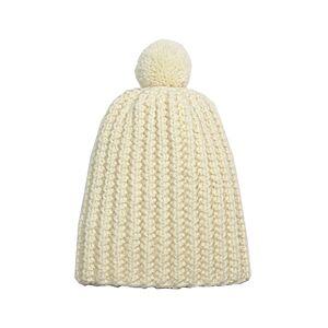 TIDOOBIO Bonnet Pompon Tricoté Main - Ecru - 12-18 mois