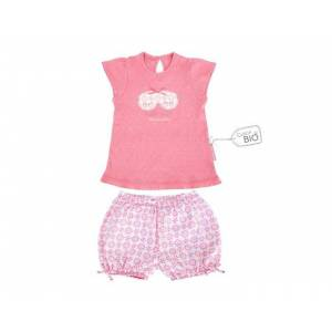 LITTLE CREVETTE Pyjama-short fille Pyjama Party 4-5 ans