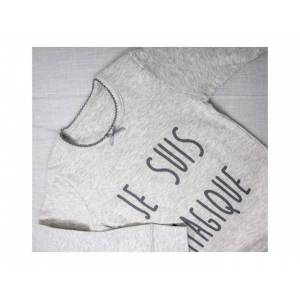 DOODERM Tee-shirt fille apaisant  - Je suis magique - Peaux sujettes à eczéma 10-12 ans