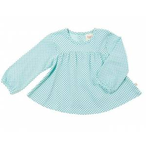 FRUGI T-shirt Manches Longues Enfant - Pointelle Rayé Rose 6 - 7 ans (116-122 cm)