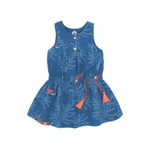 LA QUEUE DU CHAT Robe Fille Bleu Nuit et Corail 5 ans