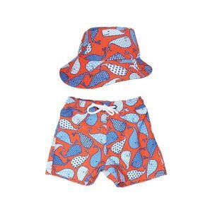MAYOPARASOL Capitaine Short de Bain et Chapeau Anti UV Enfant Taille 3-4 ans