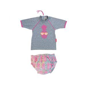 MAYOPARASOL Ananas Ensemble Maillot Couche et T-Shirt Anti UV Bébé Taille 18 mois