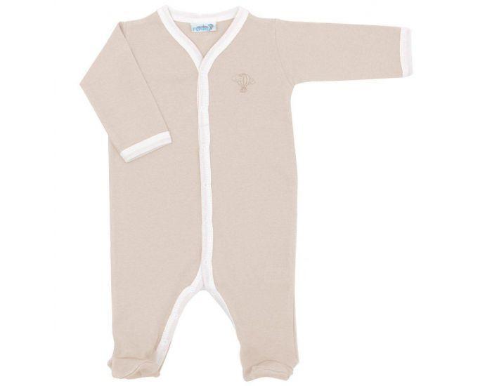 PREMIERS MOMENTS Pyjama Léger été - 100% Coton Bio - Noisette 3 mois