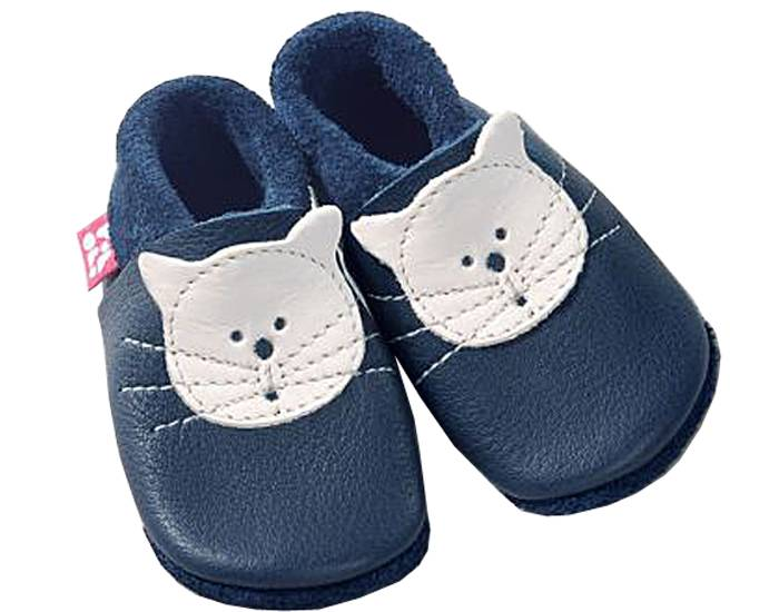 POLOLO Chaussons en Cuir - Kitty Le Chat 22/23