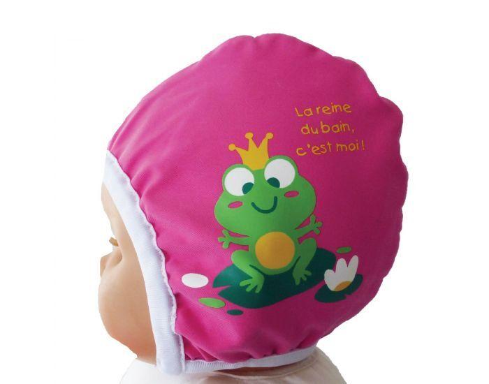 PIWAPEE Bonnet de bain Bébé Nageur - Rainette Rose framboise 3-6M / (Tour de tête 44)